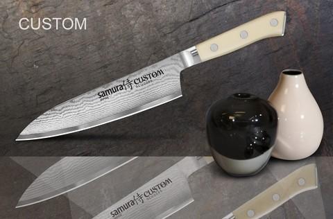 SCU-0085 Нож кухонный стальной Шеф Samura by Custom