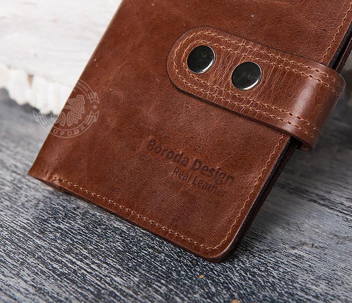WL283-2 Крутое мужское портмоне ручной работы из кожи фото 04