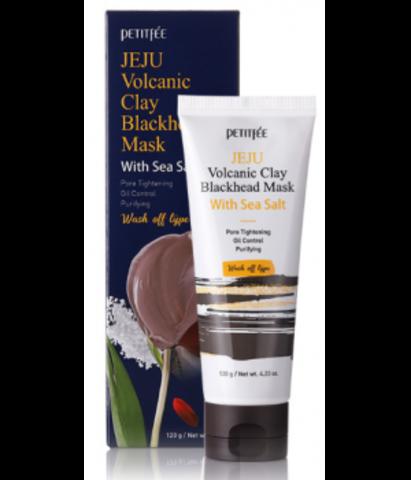 Petitfee Jeju Volcanic Clay Blackhead Mask With Sea Salt глиняная маска для лица с вулканическим пеплом и морской солью