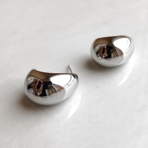 Серьги Роса, серебряный цвет