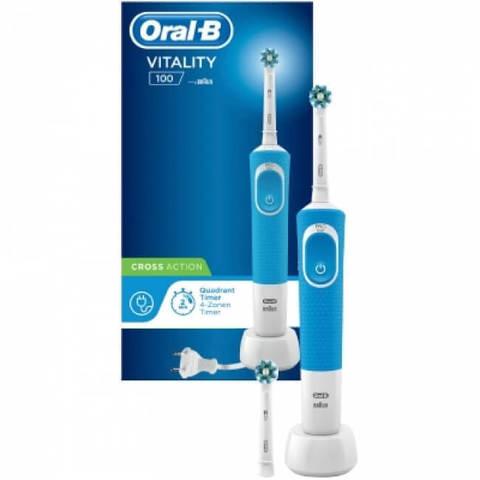 Электрическая зубная щетка Oral-B Vitality 100 CrossAction (D100.413.1) синяя