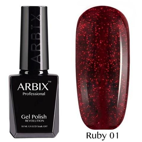 Гель-лак Arbix Ruby Сомберерро №001