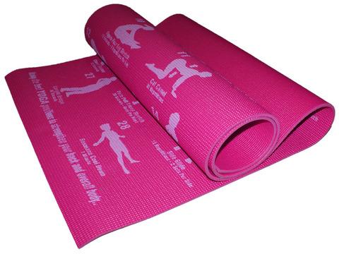 Коврик для йоги. Цвет розовый. RW-6-МА