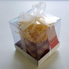 Коробка для пряничного домика подарочная 12х12х13 см двусторонняя