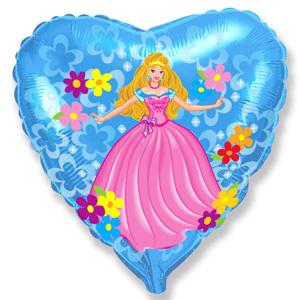 Фольгированный шар Принцесса 18