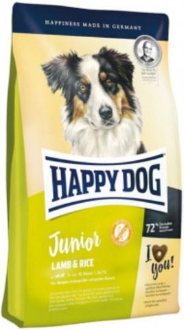 10 кг. Корм Happy Dog Junior Lamb & Rice для щенков всех пород с 7 месяцев с ягненком и рисом