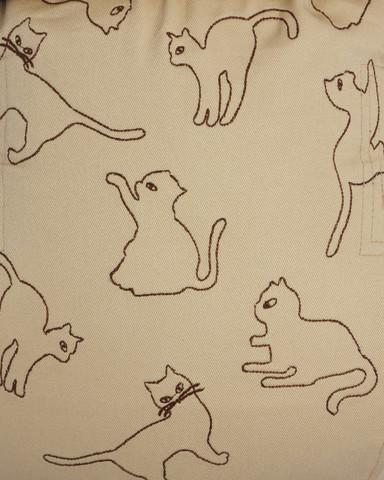 Эрго-рюкзак ТеддиСлинг Много котов бежевый без кармана