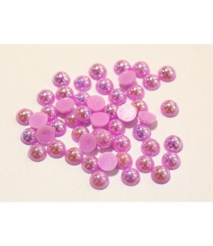 115 Стразы круглые розовые 50 шт