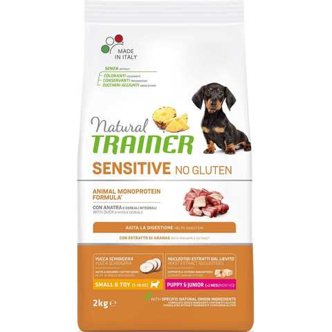 Natural Trainer Sensitive No Gluten Puppy&Junior Mini Duck