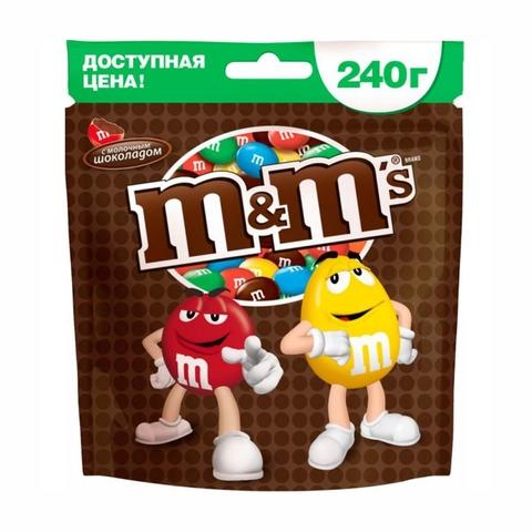 Драже M&M Шоколад 240 гр РОССИЯ