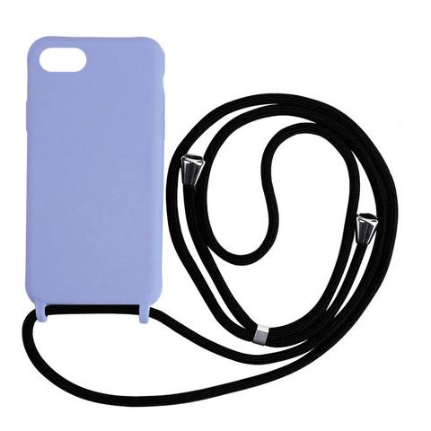 Чехол iPhone 7/8 Silicone Case crossbody bag /glycine/