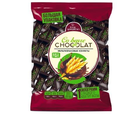 Мультизлаковые конфеты с тёмной глазурью, Co barre DE CHOCOLATE 1 кг