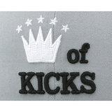 Бейсболка New Era king серая фото логотипа спереди
