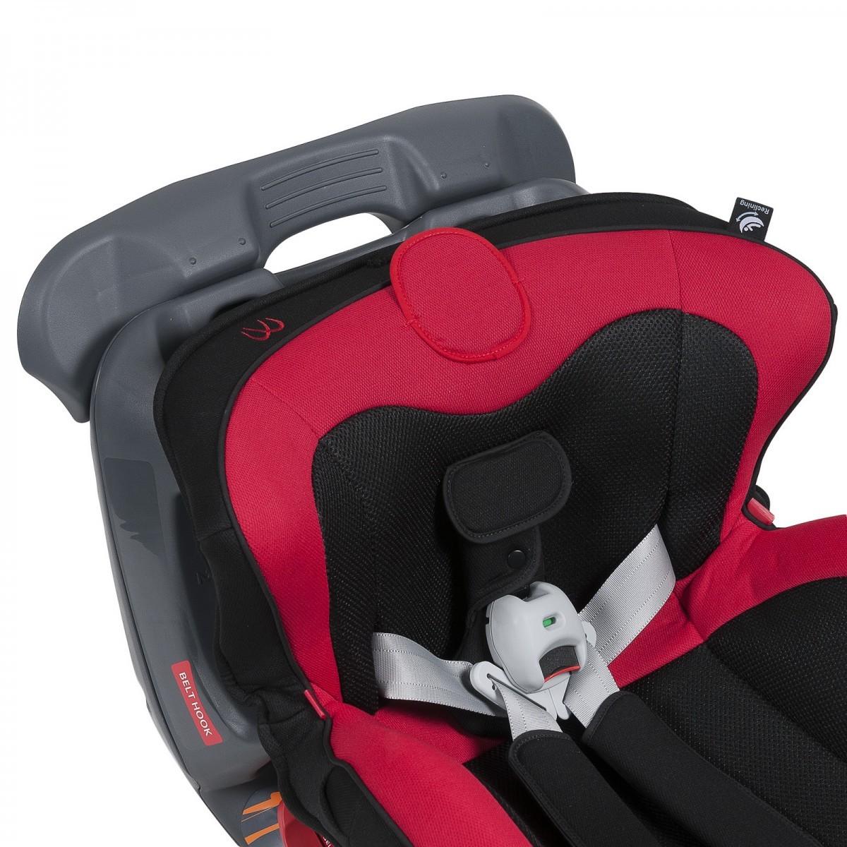 Carmate «Swing Moon» Black Red - Детское автокресло от 9 до 25 кг.