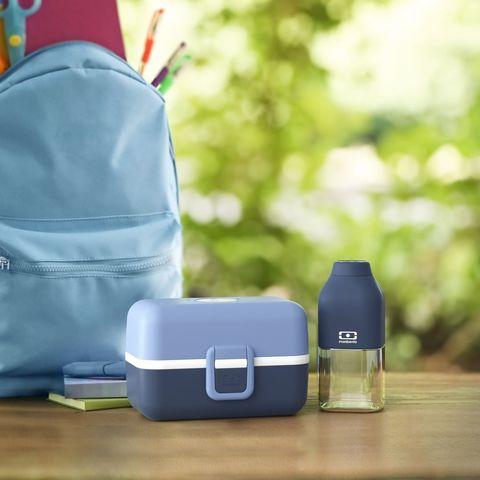 Набор для детей bleu infinity ланч бокс и бутылочка