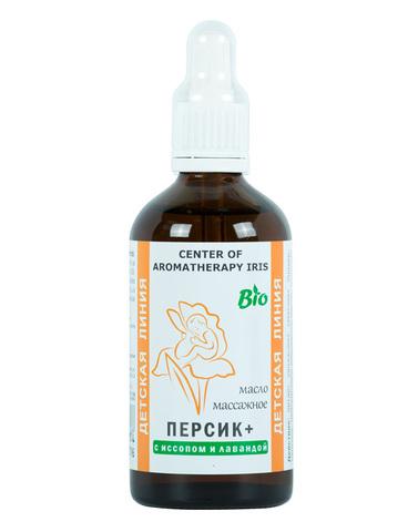 Массажное масло «Персик+» С ИССОПОМ,100 мл,Центр Ароматерапии «Ирис»