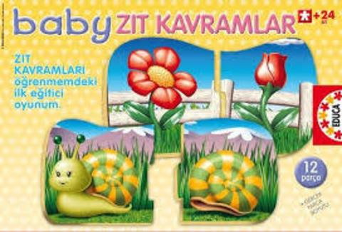 Educa Baby Zıt Kavramlar 12 Parça Puzzle