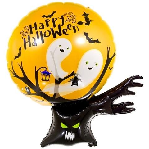 Воздушный шар фигура Дерево с привидениями, 99 см