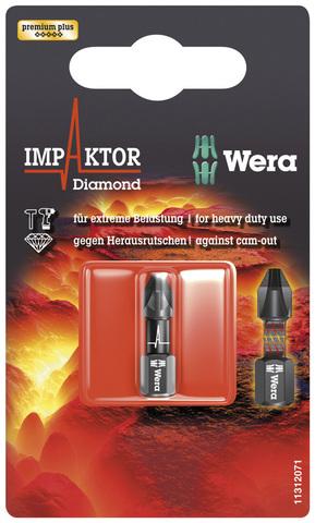 Насадка PH 2x25 851/1 IMP Wera DC Impaktor в уп.