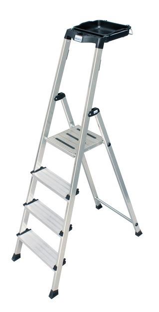 MONTO   Лестница-стремянка Secury®, с системой мульти-грип полка Стремянка, 5 ступеней 100 мм, универсальная