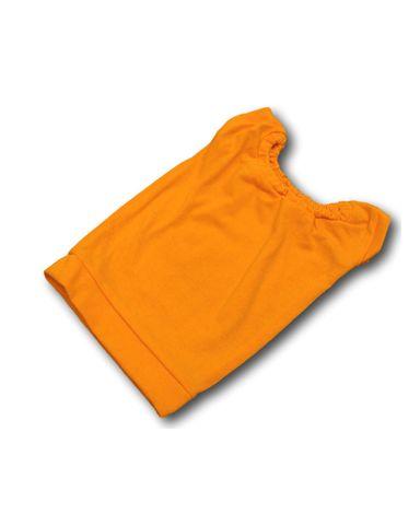 Маленькое трикотажное платье - Оранжевый. Одежда для кукол, пупсов и мягких игрушек.