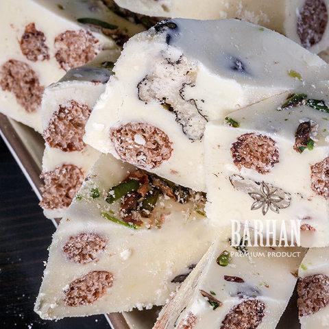 Халва Узбекская с фисташкой и грецким орехом, молочная