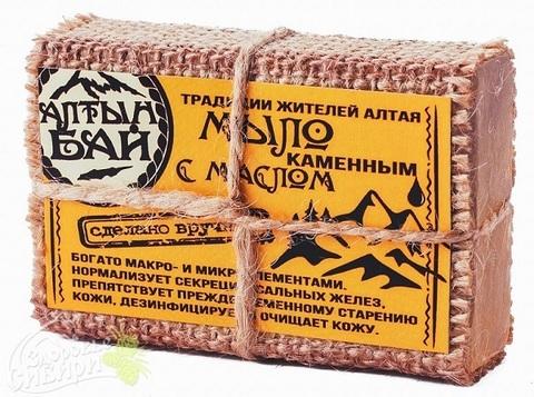 Мыло Алтын Бай С каменным маслом, 80 г