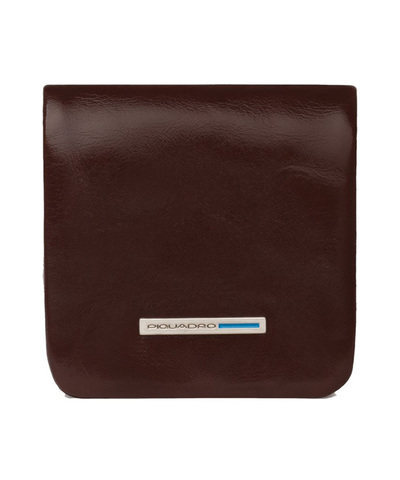Монетница Piquadro Blue Square, коричневая, 8x8x1 см