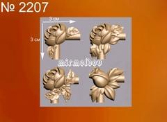Силиконовый молд № 2207 Набор уголков Розы 4 в 1