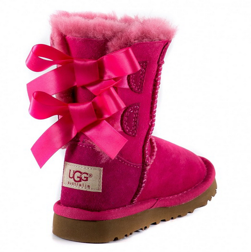 Ugg Kids Bailey Bow Dusty Rose