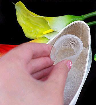 Стельки-невидимки в пятку обуви от «хлябания» и мозолей, 1 пара