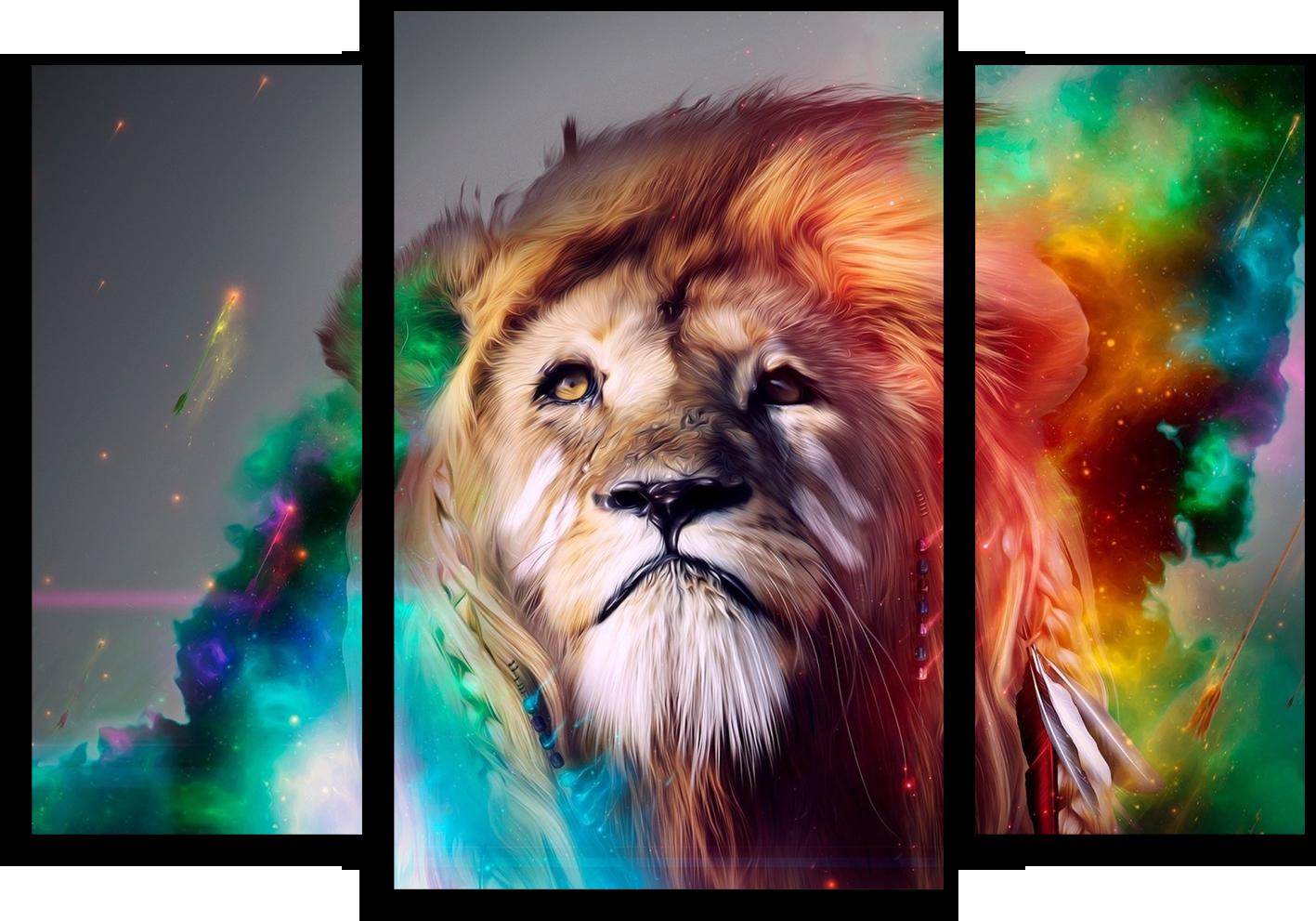 "Животные Модульная картина ""Царь зверей"" М369.png"