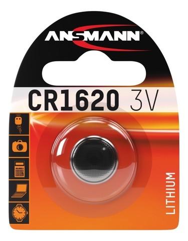 Батарейка литиевая CR1620 ANSMANN 3V