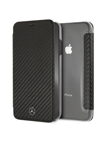 Mercedes / чехол-книжка для iPhone XS Max | Dynamic PU leather Booktype Black