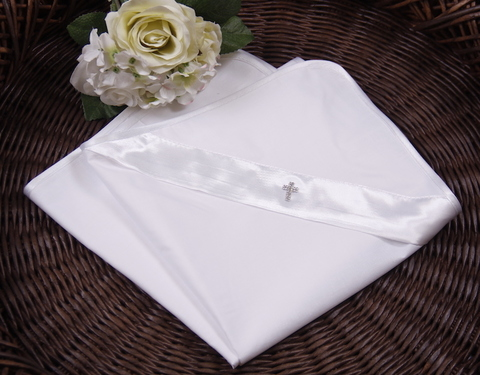 Пеленка крыжма для Крещения Ангел (белая)