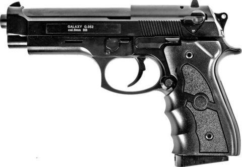 Страйкбольный пистолет Galaxy G.052B Beretta 92 пластиковый, пружинный