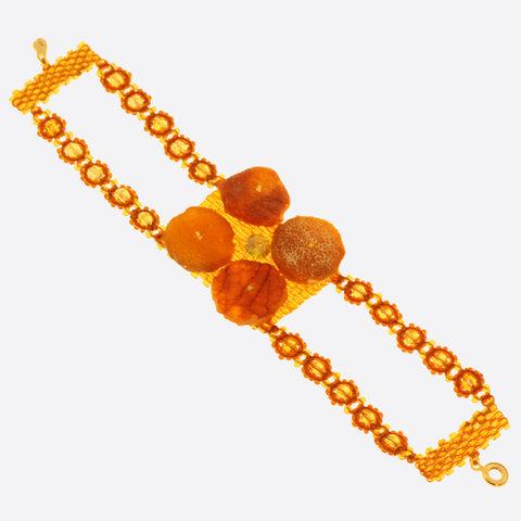 Широкие браслеты из янтаря