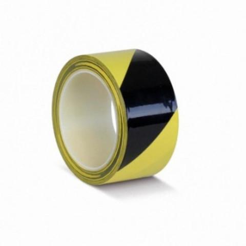 Лента для разметки желтая/черная 50 мм x 33 м 180 мкм (артикул производителя KMLW05033)