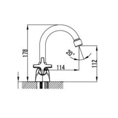 Смеситель KAISER Crystal 28111 для раковины схема