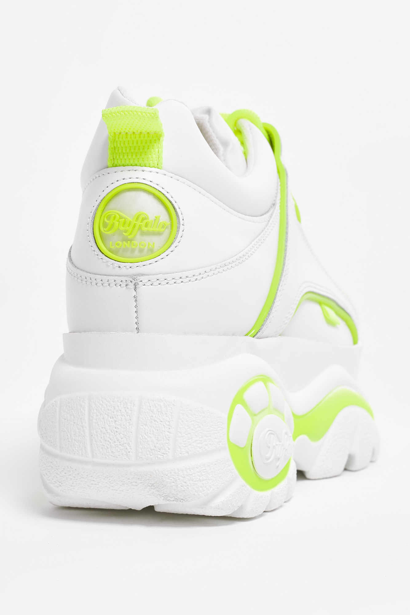 Ботинки Buffalo London, Белый с желтой вставкой