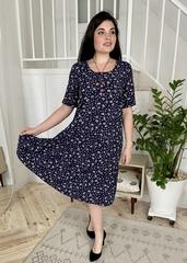 Стеша. Сукня з воланами великих розмірів. Синій