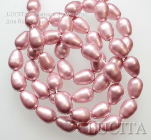 5821 Хрустальный жемчуг Сваровски Crystal Powder Rose грушевидный 11х8 мм ()
