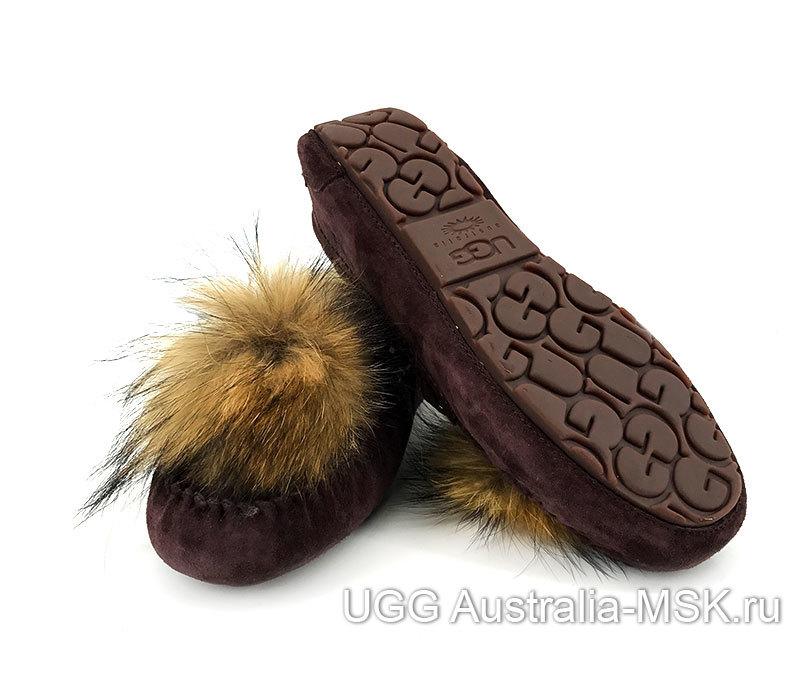 UGG Moccasins Pom Pom Chocolate