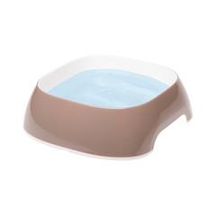 Пластиковая миска, Ferplast GLAM SMALL, сизо-серая 0,4 л