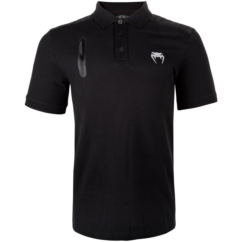 Футболки - Поло Футболка Venum Laser Polo - Black 1.jpg