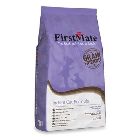 FirstMate Indoor Cat сухой низкозерновой корм для домашних котят и кошек 2,3 кг.
