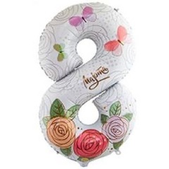 8 розы 102 см