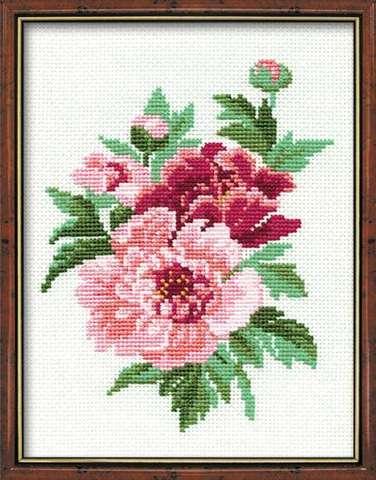 Набор для вышивания крестом «Пионы» (815)
