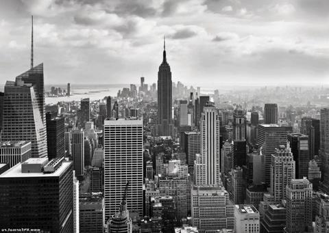 Фотообои Komar Черно-белый Нью-Йорк (NYC Black And White) фото 1