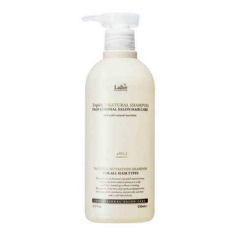 Lador Шампунь для волос с натуральными ингредиентами Triplex Natural Shampoo, 530 мл